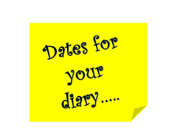 Dates for your Diary in 2017